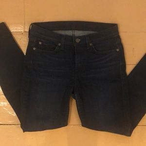 7 for all mankind skinny jeans sz 27!